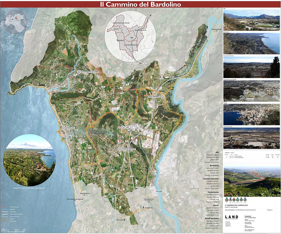 Inquadramento territoriale e stato di fatto. Tavola 1 | Il cammino del Bardolino