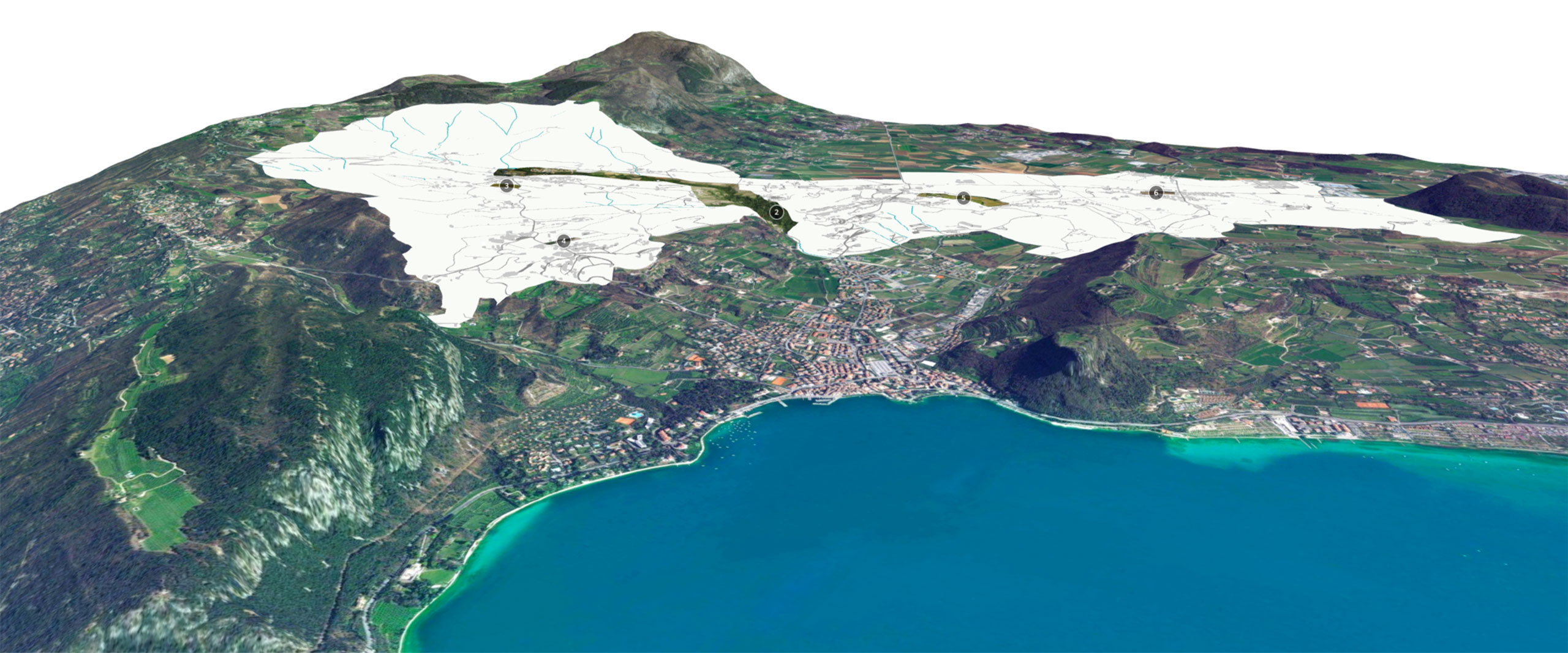 Aree e progetti preliminari. - 3D | Comune di Costermano sul Garda (Verona).
